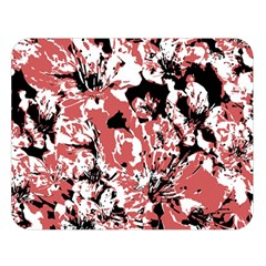 Textured Floral Collage Double Sided Flano Blanket (large)