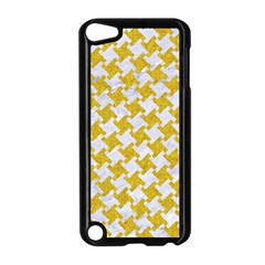 Houndstooth2 White Marble & Yellow Denim Apple Ipod Touch 5 Case (black)