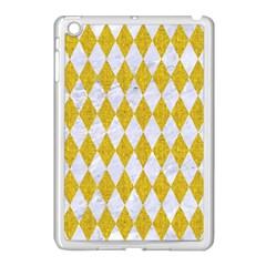 Diamond1 White Marble & Yellow Denim Apple Ipad Mini Case (white)