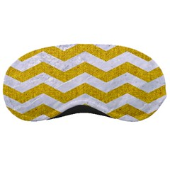 Chevron3 White Marble & Yellow Denim Sleeping Masks