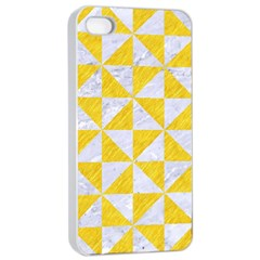 Triangle1 White Marble & Yellow Colored Pencil Apple Iphone 4/4s Seamless Case (white)