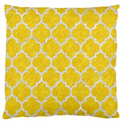 Tile1 White Marble & Yellow Colored Pencil Large Flano Cushion Case (one Side)