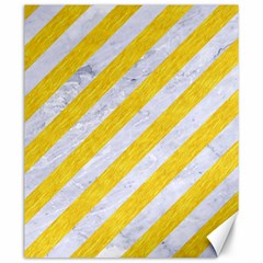 Stripes3 White Marble & Yellow Colored Pencil (r) Canvas 20  X 24