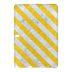 Stripes3 White Marble & Yellow Colored Pencil Samsung Galaxy Tab Pro 12 2 Hardshell Case