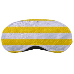 Stripes2white Marble & Yellow Colored Pencil Sleeping Masks
