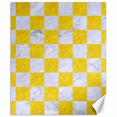 Square1 White Marble & Yellow Colored Pencil Canvas 20  X 24