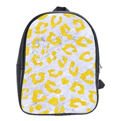 Skin5 White Marble & Yellow Colored Pencil School Bag (large)