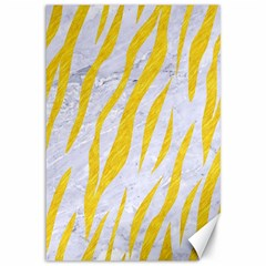 Skin3 White Marble & Yellow Colored Pencil (r) Canvas 12  X 18