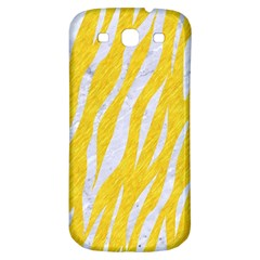 Skin3 White Marble & Yellow Colored Pencil Samsung Galaxy S3 S Iii Classic Hardshell Back Case