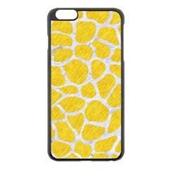 Skin1 White Marble & Yellow Colored Pencil (r) Apple Iphone 6 Plus/6s Plus Black Enamel Case