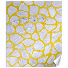 Skin1 White Marble & Yellow Colored Pencil Canvas 20  X 24
