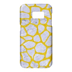 Skin1 White Marble & Yellow Colored Pencil Samsung Galaxy S7 Hardshell Case