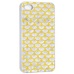 Scales3 White Marble & Yellow Colored Pencil (r) Apple Iphone 4/4s Seamless Case (white)