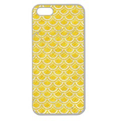 Scales2 White Marble & Yellow Colored Pencil Apple Seamless Iphone 5 Case (clear)