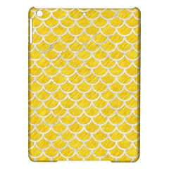 Scales1 White Marble & Yellow Colored Pencil Ipad Air Hardshell Cases