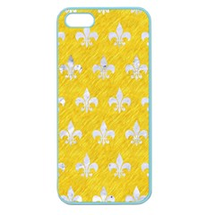 Royal1 White Marble & Yellow Colored Pencil (r) Apple Seamless Iphone 5 Case (color)