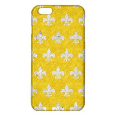 Royal1 White Marble & Yellow Colored Pencil (r) Iphone 6 Plus/6s Plus Tpu Case
