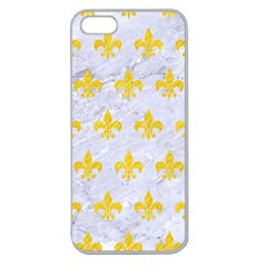 Royal1 White Marble & Yellow Colored Pencil Apple Seamless Iphone 5 Case (clear)