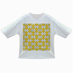 Puzzle1 White Marble & Yellow Colored Pencil Infant/toddler T Shirts