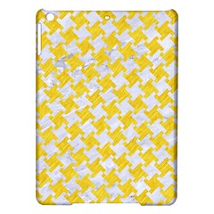 Houndstooth2 White Marble & Yellow Colored Pencil Ipad Air Hardshell Cases