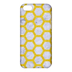 Hexagon2 White Marble & Yellow Colored Pencil (r) Apple Iphone 5c Hardshell Case
