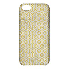 Hexagon1 White Marble & Yellow Colored Pencil (r) Apple Iphone 5c Hardshell Case