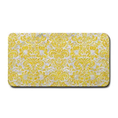Damask2 White Marble & Yellow Colored Pencil (r) Medium Bar Mats