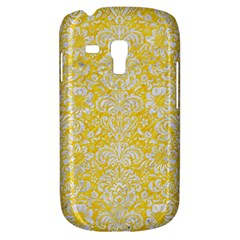 Damask2 White Marble & Yellow Colored Pencil Galaxy S3 Mini