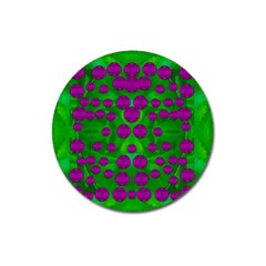The Pixies Dance On Green In Peace Magnet 3  (round)