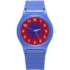 Red Music Blue Moon Round Plastic Sport Watch (s)