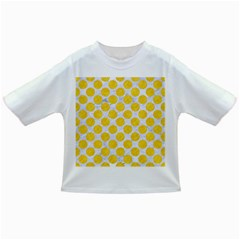 Circles2 White Marble & Yellow Colored Pencil (r) Infant/toddler T Shirts