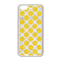 Circles2 White Marble & Yellow Colored Pencil (r) Apple Iphone 5c Seamless Case (white)