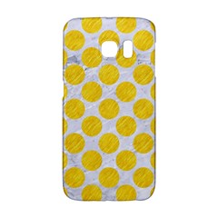 Circles2 White Marble & Yellow Colored Pencil (r) Galaxy S6 Edge