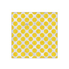 Circles2 White Marble & Yellow Colored Pencil (r) Satin Bandana Scarf
