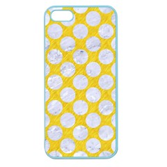 Circles2 White Marble & Yellow Colored Pencil Apple Seamless Iphone 5 Case (color)