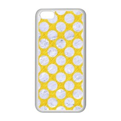 Circles2 White Marble & Yellow Colored Pencil Apple Iphone 5c Seamless Case (white)