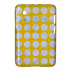Circles1 White Marble & Yellow Colored Pencil Samsung Galaxy Tab 2 (7 ) P3100 Hardshell Case
