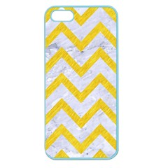 Chevron9 White Marble & Yellow Colored Pencil (r) Apple Seamless Iphone 5 Case (color)