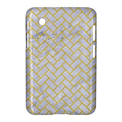 Brick2 White Marble & Yellow Colored Pencil (r) Samsung Galaxy Tab 2 (7 ) P3100 Hardshell Case