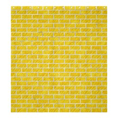 Brick1 White Marble & Yellow Colored Pencil Shower Curtain 66  X 72  (large)