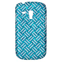 Woven2 White Marble & Turquoise Marble Galaxy S3 Mini