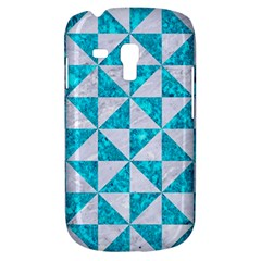 Triangle1 White Marble & Turquoise Marble Galaxy S3 Mini