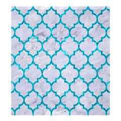 Tile1 White Marble & Turquoise Marble (r) Shower Curtain 66  X 72  (large)