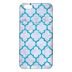 Tile1 White Marble & Turquoise Marble (r) Iphone 6 Plus/6s Plus Tpu Case