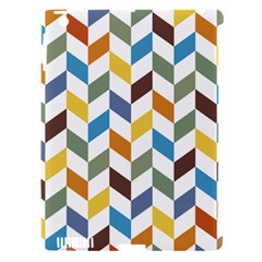 Zigzag Chevron Pattern Orange Blue Apple Ipad 3/4 Hardshell Case (compatible With Smart Cover)