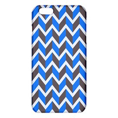 Zigzag Chevron Pattern Blue Grey Iphone 6 Plus/6s Plus Tpu Case