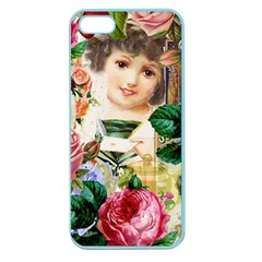 Little Girl Victorian Collage Apple Seamless Iphone 5 Case (color)