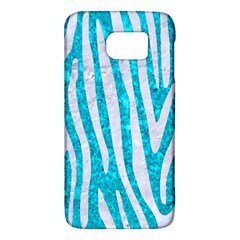 Skin4 White Marble & Turquoise Marble (r) Galaxy S6