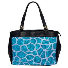 Skin1 White Marble & Turquoise Marble (r) Office Handbags