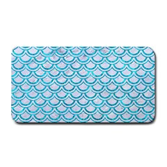 Scales2 White Marble & Turquoise Marble (r) Medium Bar Mats